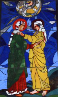 Maria und Elisabeth Kirchenfenster Almas in Kroatien
